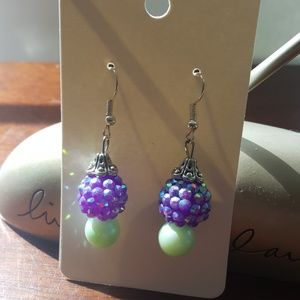 💜 Purple 💜 Disco ball 🕺Earrings 💎